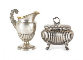 German Silver Tea Caddy, Late 19th C., Bearing