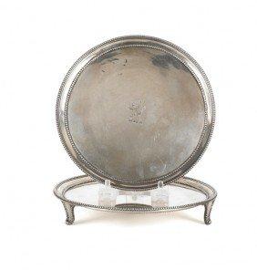 Pair Of Georgian Silver Waiters, 1781-1782, Bea