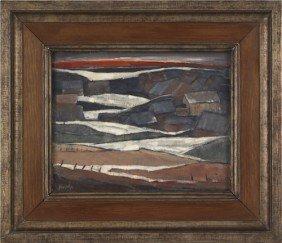 Henri Burkhard (American, 1892-1956), Oil On Pa