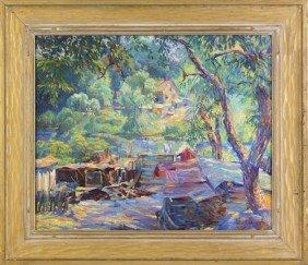 John Pierce Barnes (American, 1893-1954), Oil O