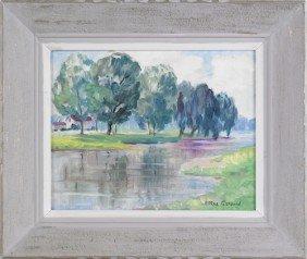 Allee Gerard (American, 1895-1993), Pair Of Oil O
