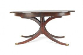 Drexel Federal Style Mahogany Dining Table, 28'' H