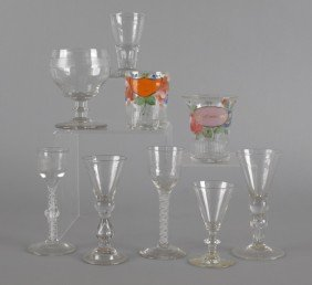 Nine Pieces Of Glassware, 19th/20th C., To Includ