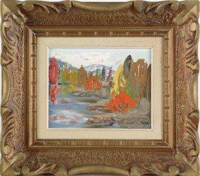 Gregory Naha, Acrylic On Board Landscape, 8'' X 10