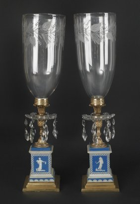 Pair Of English Candelabra, Ca. 1900, With Hurr