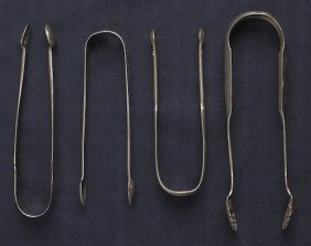 Collection Of Silver Tongs To Include Sugar Ton