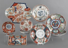 Nine Pieces Of Japanese Imari Porcelain.