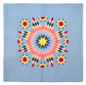 Pennsylvania Pieced Morning Star Quilt With A Ma