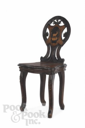 Chevob & Co. Musical Chair With Parquetry Inlay,