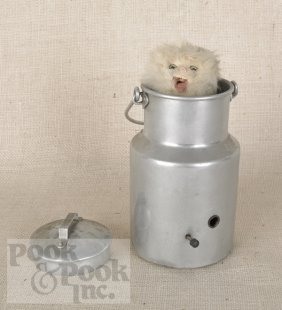 Cat In A Milk Pail Musical Automaton, Late 19th C