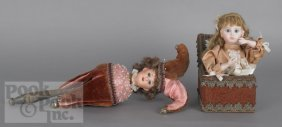 Musical Twirling Doll Toy, Late 19th C., Together