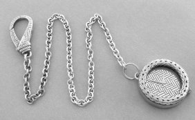 John Hardy Sterling Silver Rope Pocketwatch With Chain