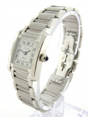 New Geneve 14k White Gold Ladies Watch