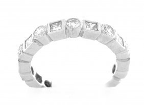 Platinum Diamond Full Eternity Diamond Ring Band 1ct