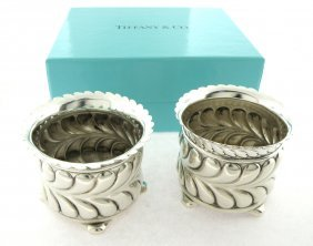 Vintage Tiffany & Co. Silver Salt Pepper Open Dip Set