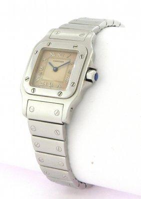 Cartier Santos Ladies Quartz Stainless Steel Watch