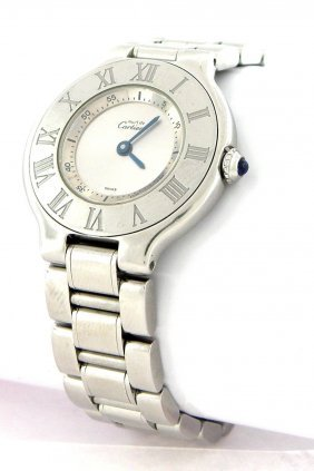 Cartier Must De 21 Ladies Stainless Steel Watch 1340