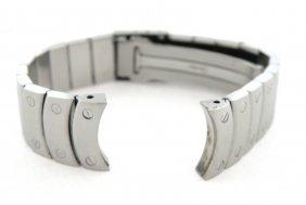 Cartier Santos Ronde Men's Stainless Steel Watch Strap