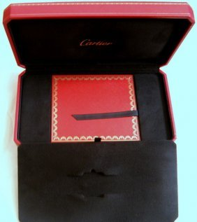 Authentic Cartier Watch Box & Paperwork For Divan