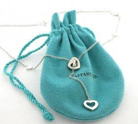 Tiffany & Co. Silver Lariat Heart Necklace