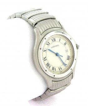 Cartier Santos Ronde Men's Quartz Steel Watch Large