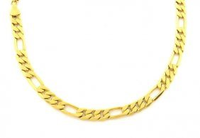 """New 14k Yellow Gold Figaro Solid Chain Necklace 5mm 20"""""""