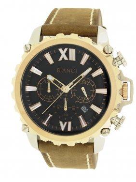 Roberto Bianci Men's Chronograph Watch Rose Gold Plate