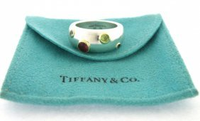 Tiffany & Co. 18k Gold Sterling Silver Etoile Ring