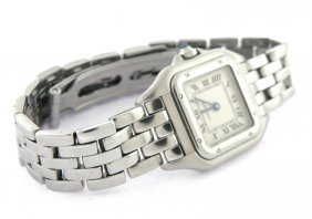 Cartier Panthere Ladies Stainless Steel Watch