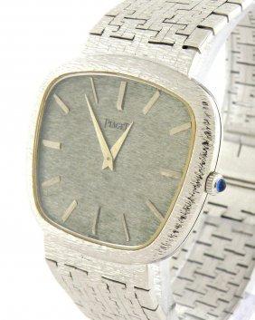 Vintage Piaget 18k White Gold Men's Watch Swiss Made