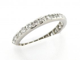 New 1.00ct Platinum Diamond Eternity Wedding Band Ring