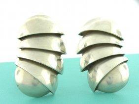 Vintage Tiffany & Co. Sterling Silver Earrings Large