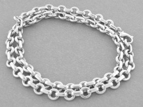 Tiffany & Co. Sterling Silver Donut Link Necklace