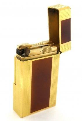 Vintage St Dupont Brown Enamel Lacquer Lighter