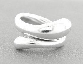 Tiffany & Co. Sterling Silver Peretti Teardrop Ring
