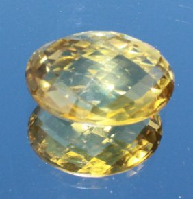 Lemon Citrine Cabochon Checkerboard Cut From Both Sides