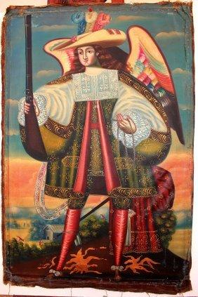 Cuzco School Cavalier Angel, 18th Century