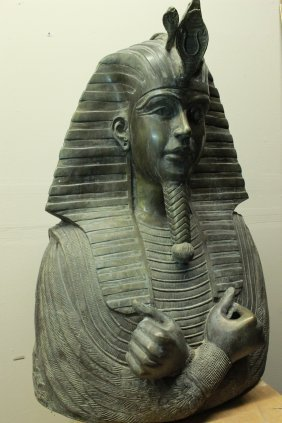 Large Bronze King Tut Tutankhamun The Boy Pharaoh