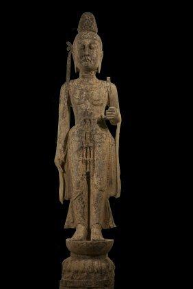 Standing Bodhisattva Limestone, Eastern Wei Period