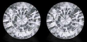 Loose Match Pair Diamond Cut White Sapphire