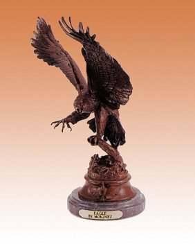 Jules Moigniez Eagle Ii Bronze Sculpture