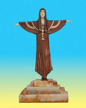 Demetre Chiparus-Bronze Sculpture- The Creed