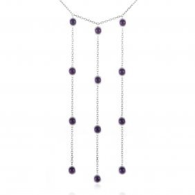 Gucci 18k White Gold Amethyst Drops Necklace