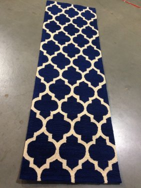 8 Ft Textured Moroccan Design Hand Tufted Runner