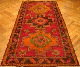19th Century 4x9 Authentic Antique Russian Kazak Rug