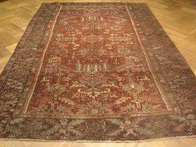 Authentic Persian Heriz Rug- All Over Design
