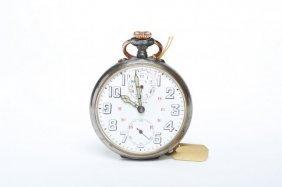 1920s Gunmetal Zenith Alarm Pocket Watch