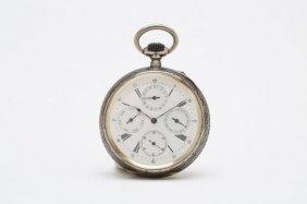 1894 Sterling Silver Niello Pocketwatch Watch