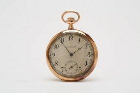 1930s 14kt Rose Gold Ulysse Nardin Pocket Watch