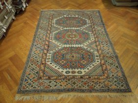 "Semi Antique Eagle Kazak 9'.1""6'.3"" Carpet 1970s"